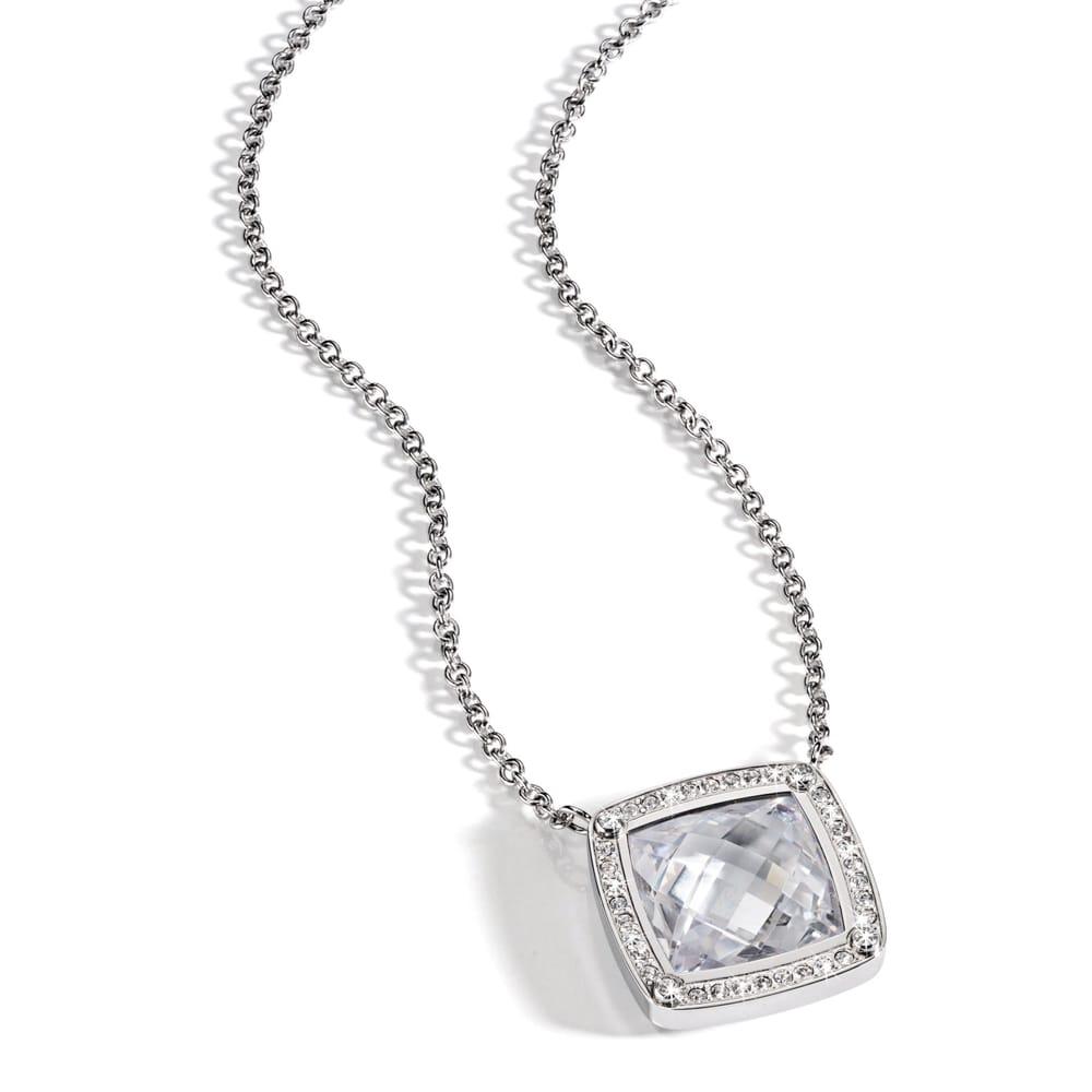 Morellato Women Sterling-Silver Zircon Gemstone Pendant Necklace