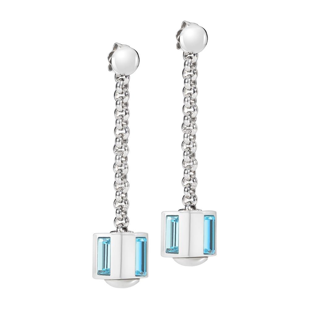 Orecchini Morellato Drops in Acciaio con Cristalli SCZ414