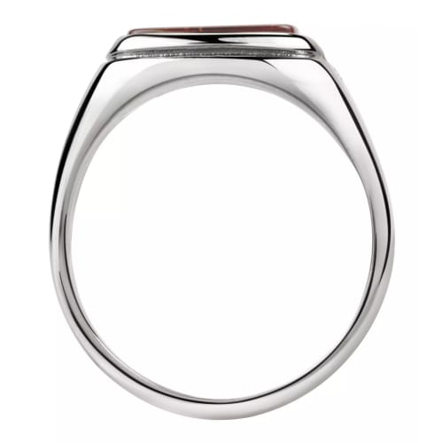 Jewels By Lux Stainless Steel Black /& White Diamond Ring