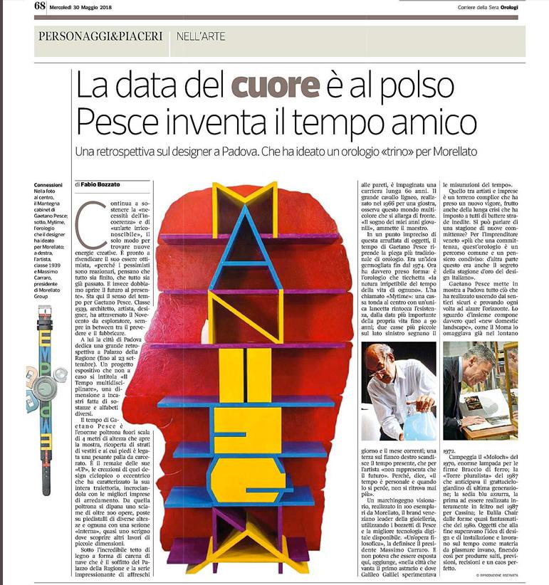 Articolo su Gaetano Pesce